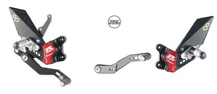LighTech Suzuki GSXR 600/750 2011> Adjustable Rearsets